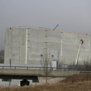 rebau-Historie-2007 - Bau des Hochregallagers der Firma BIX GmbH in Meßkirch