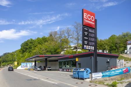 rebau-Referenzprojekte - Gewerbe- & Kommunalbau - ECO Tankstelle, Sigmaringen