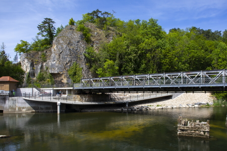 rebau-Referenzprojekte - Gewerbe- & Kommunalbau - Fahrradbrücke, Sigmaringen