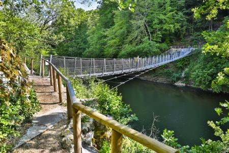 rebau-Referenzprojekte - Gewerbe- & Kommunalbau - Fundamente Hängebrücke, Inzigkofen