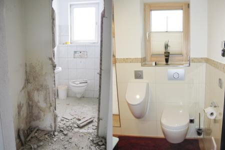 rebau-Referenzprojekte - Umbau und Modernisieren - Modernisieren eines Wohnhauses, Badezimmer
