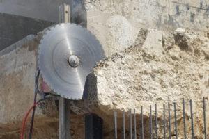 rebau-Referenzprojekte - Bohren und Sägen - Absägen an Abrisskante
