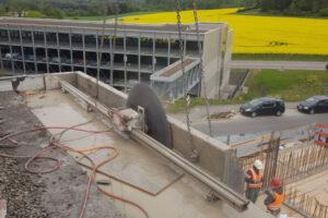 rebau-Referenzprojekte - Bohren und Sägen - Betonsägearbeiten, Abbruch