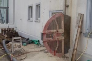 rebau-Referenzprojekte - Bohren und Sägen - Wandsägearbeiten für Türöffnung