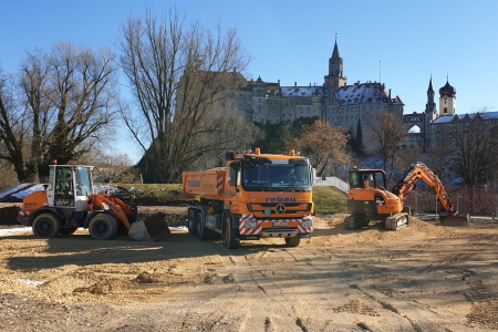 rebau-Referenzprojekte - Erdbewegungen - Bodenverbesserung Hotel am Schloss, Sigmaringen
