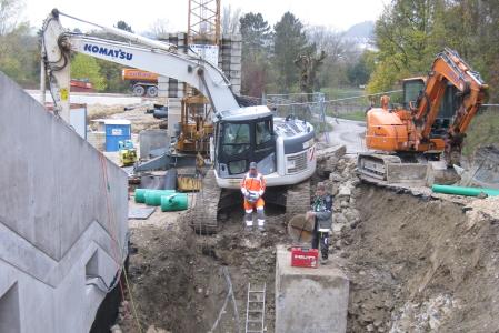 rebau-Referenzprojekte - Erdbewegungen - Erdarbeiten Tiefhof Freibad, Sigmaringen