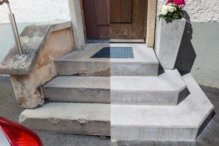 rebau-Referenzprojekte - Sanieren - Haustreppe