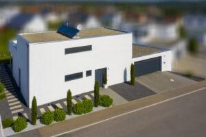 rebau-Referenzprojekte - Schlüsselfertig - Einfamilienhaus mit Flachdach