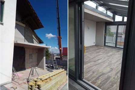 rebau-Referenzprojekte - Umbau und Modernisieren - Anbau eines Balkons und einer Wand für einen Wintergarten